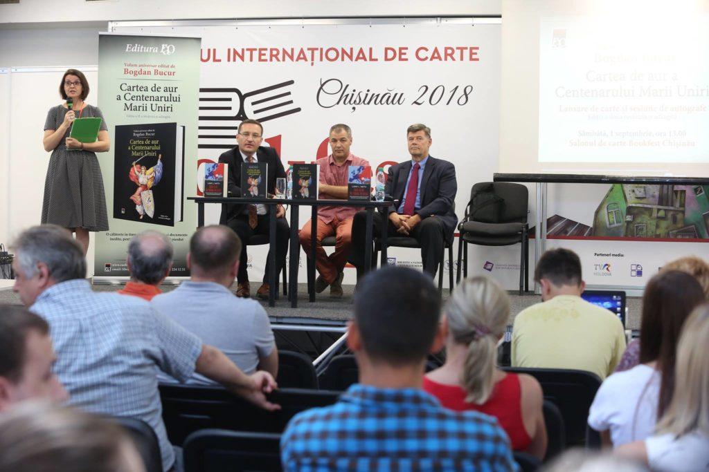 lansare Chișinău 2018 Cartea de Aur a Centenarului Marii Uniri