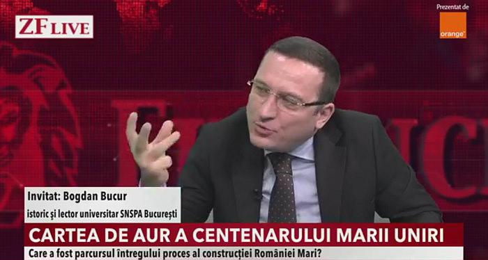 ZF Ziarul Financiar live discutie Bogdan Bucur Cartea de Aur a Centenarului Marii Uniri